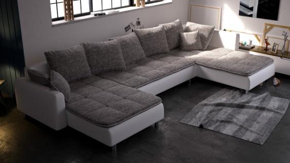 Couchgarnitur Couch Ecksofa Eckcouch Sofagarnitur Sofa VULCANO Wohnlandschaft