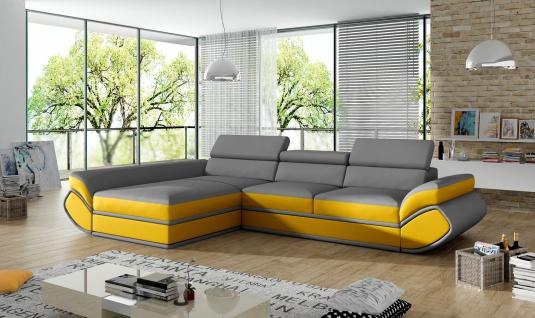 Couchgarnitur GENESIS mini L Sofa mit Schlaffunktion Couch Polsterecke Ecksofa