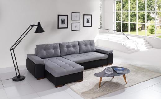 Couch Couchgarnitur Polsterecke RAVENNA 1 L Wohnlandschaft Sofa Schlaffunktion