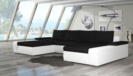 Couch Couchgarnitur MARINO U Sofagarnitur Sofa Wohnlandschaft Schlaffunktion