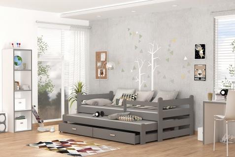 Kinderbett Doppelbett BEN NEW grau unschädlich lackiert Etagenbett Hochbett