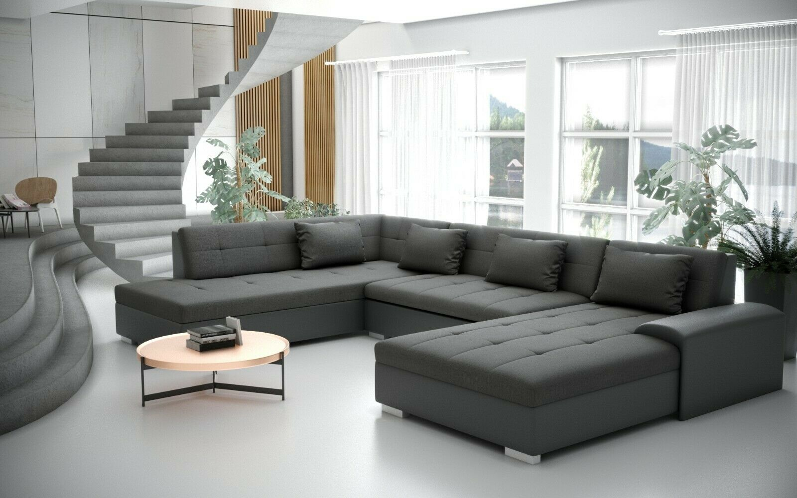 Garnitur Schlaffunktion Ecksofa Couch Wohnlandschaft Liberto Sofa Sofagarnitur k0wnPO