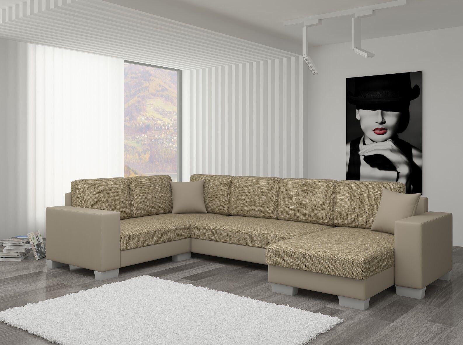 Couch Couchgarnitur Sofa Polsterecke Mc 02 U Wohnlandschaft