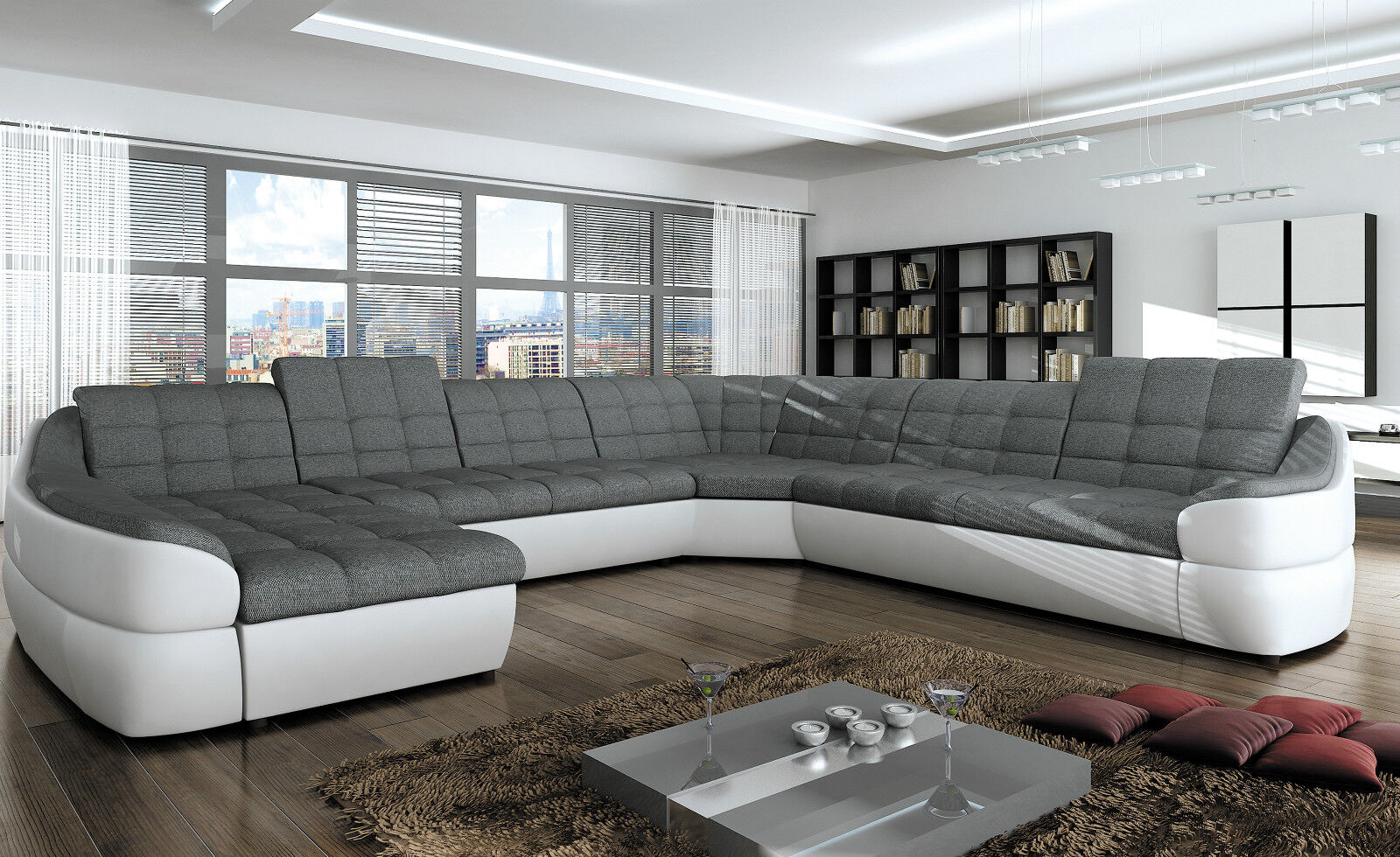 Couchgarnitur Infinity Xl U Sofa Mit Schlaffunktion Couch Polsterecke Ecksofa 1
