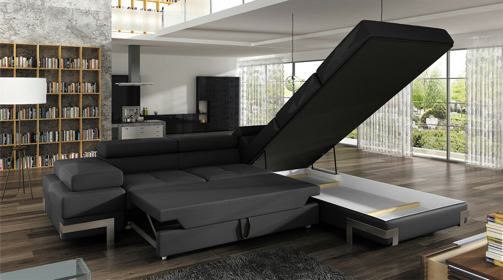 couchgarnitur emporio sofa eckcouch schlaffunktion couch. Black Bedroom Furniture Sets. Home Design Ideas