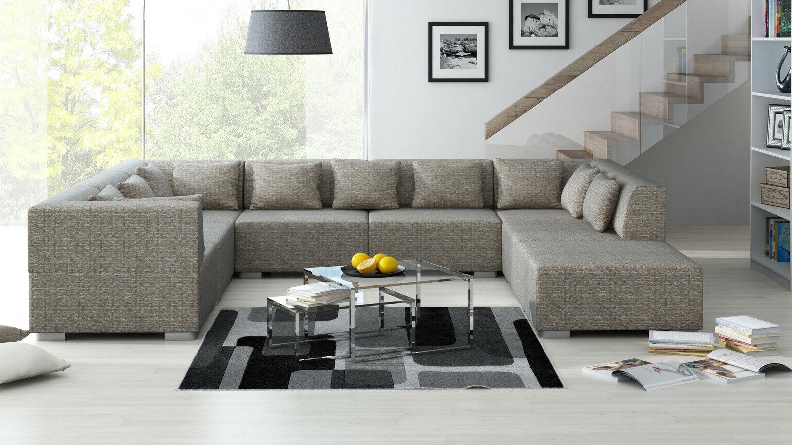 Wohnlandschaft Supermax 8 Teile Sofa Garnitur Couch Couchgarnitur