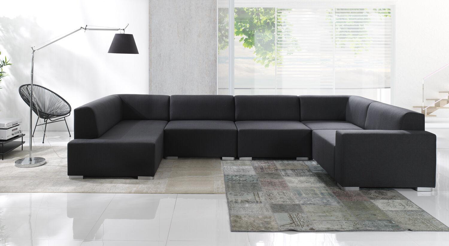 COUCH CUBIC 5 TEILE Couchgarnitur Wohnlandschaft Big Sofa Modulsofa  Polsterecke 1 ...
