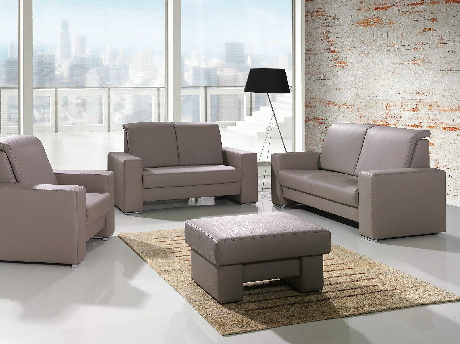 Couch Polster Sofa Garnitur Set Polsterecke Nellie 3 2 1 Hocker