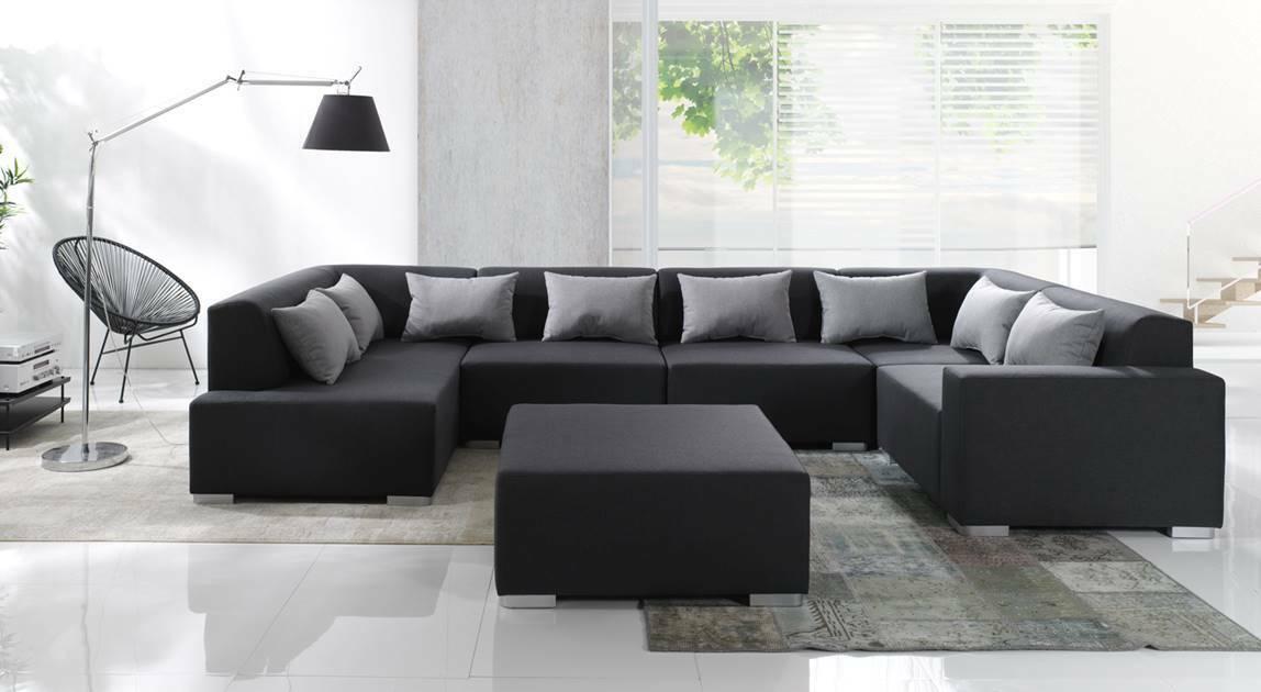 Couchgarnitur Big Sofa Cubic 6 Eck Couch Wohnlandschaft Ecksofa