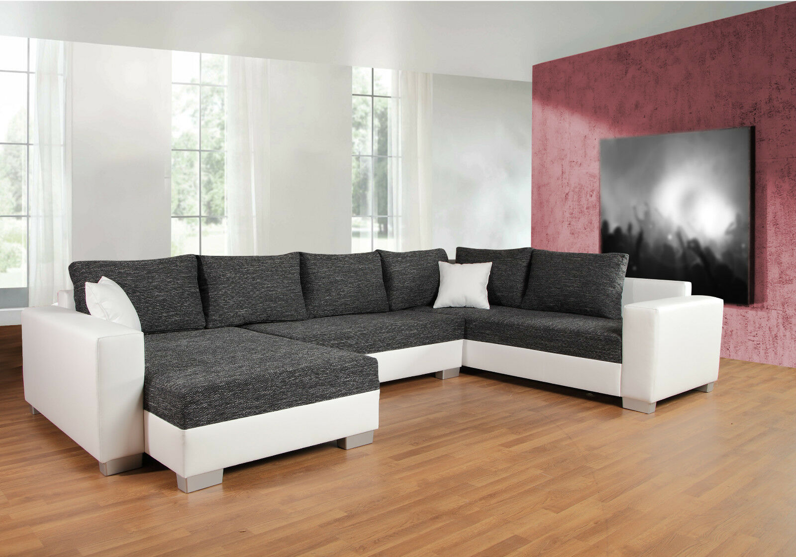sofa u form mit schlaffunktion latribuna. Black Bedroom Furniture Sets. Home Design Ideas