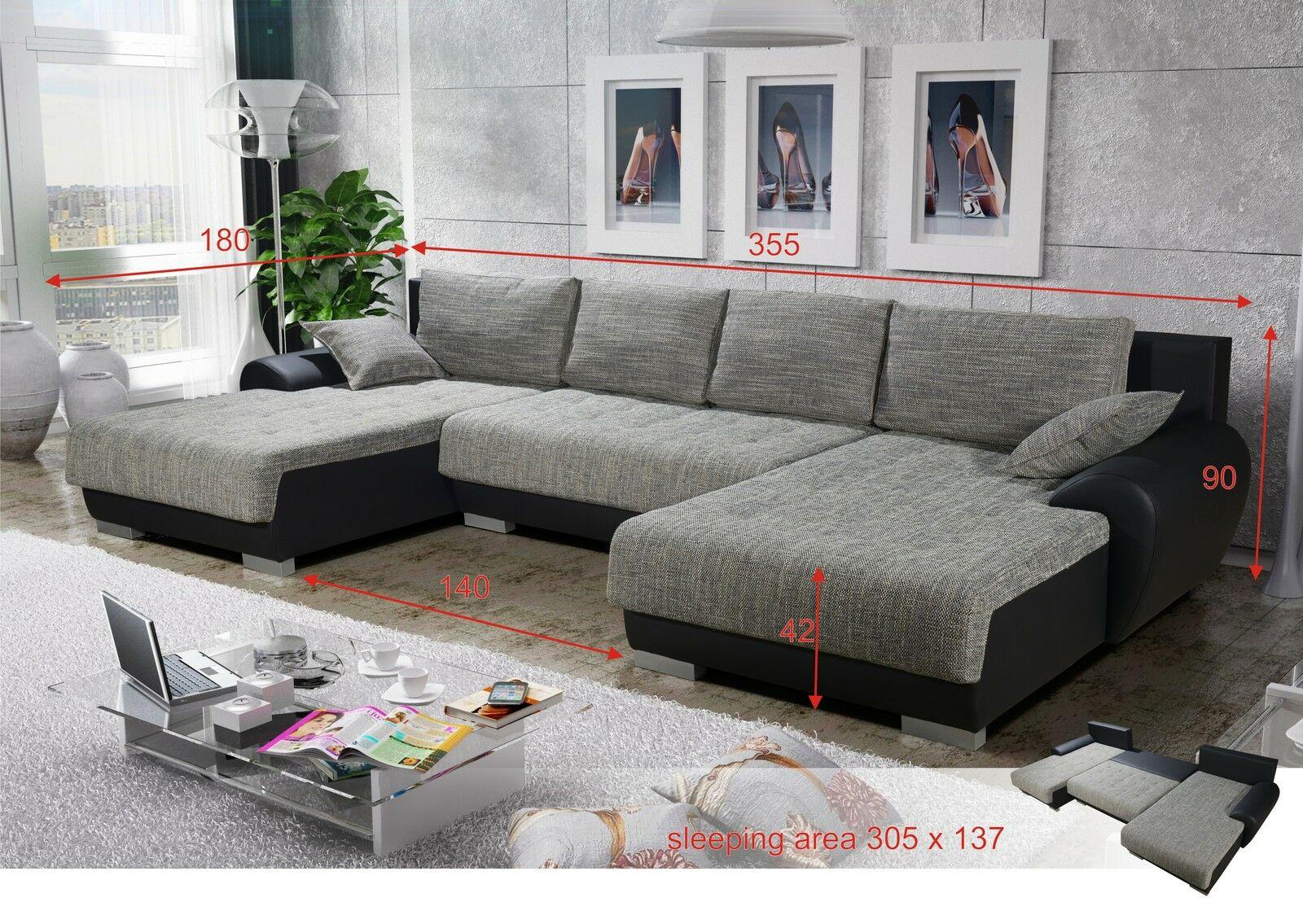 Sofa Leon 6 Couchgarnitur Couch Sofagarnitur U Wohnlandschaft