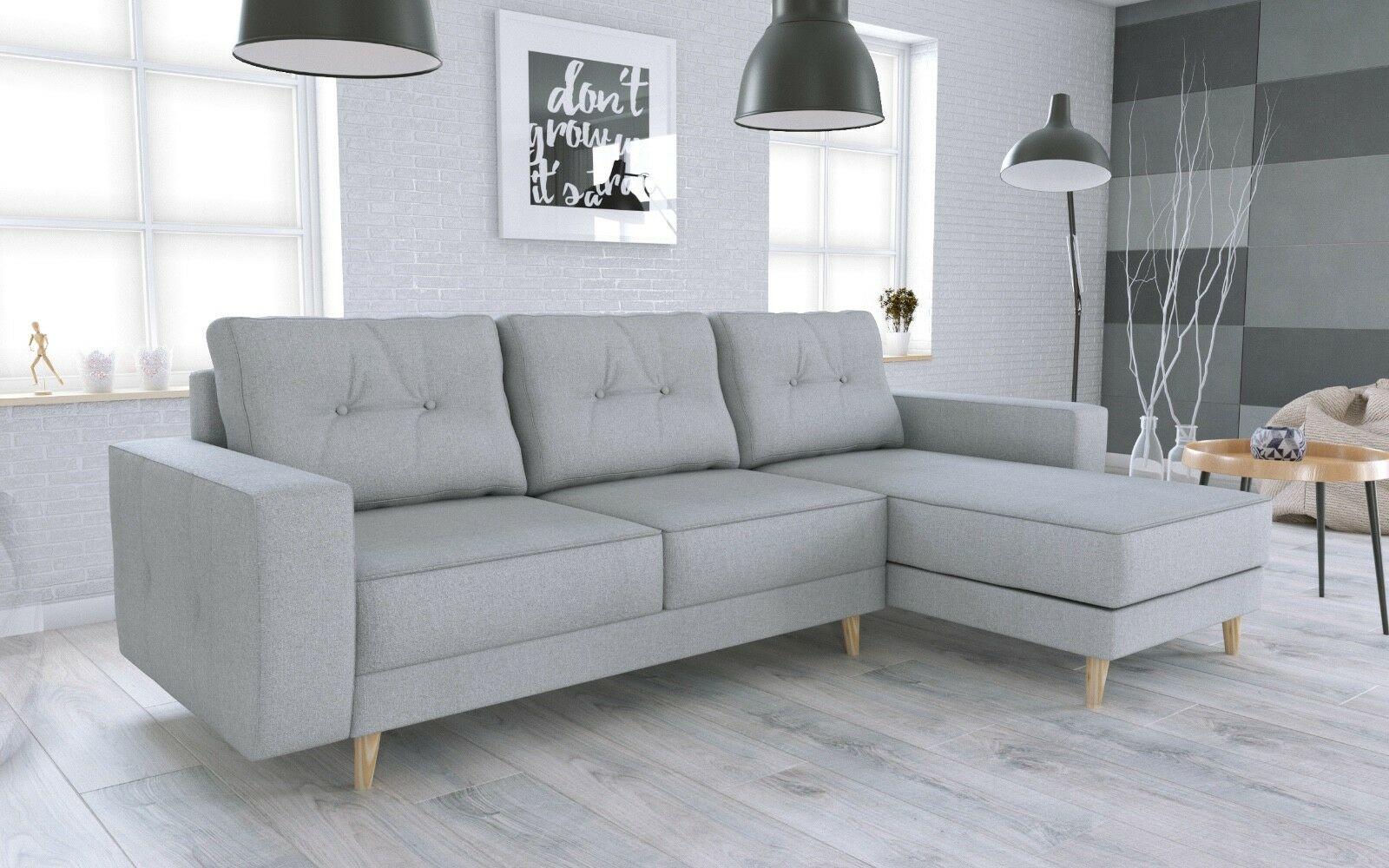Couch Garnitur Ecksofa Sofagarnitur Sofa Vincent L Schlaffunktion