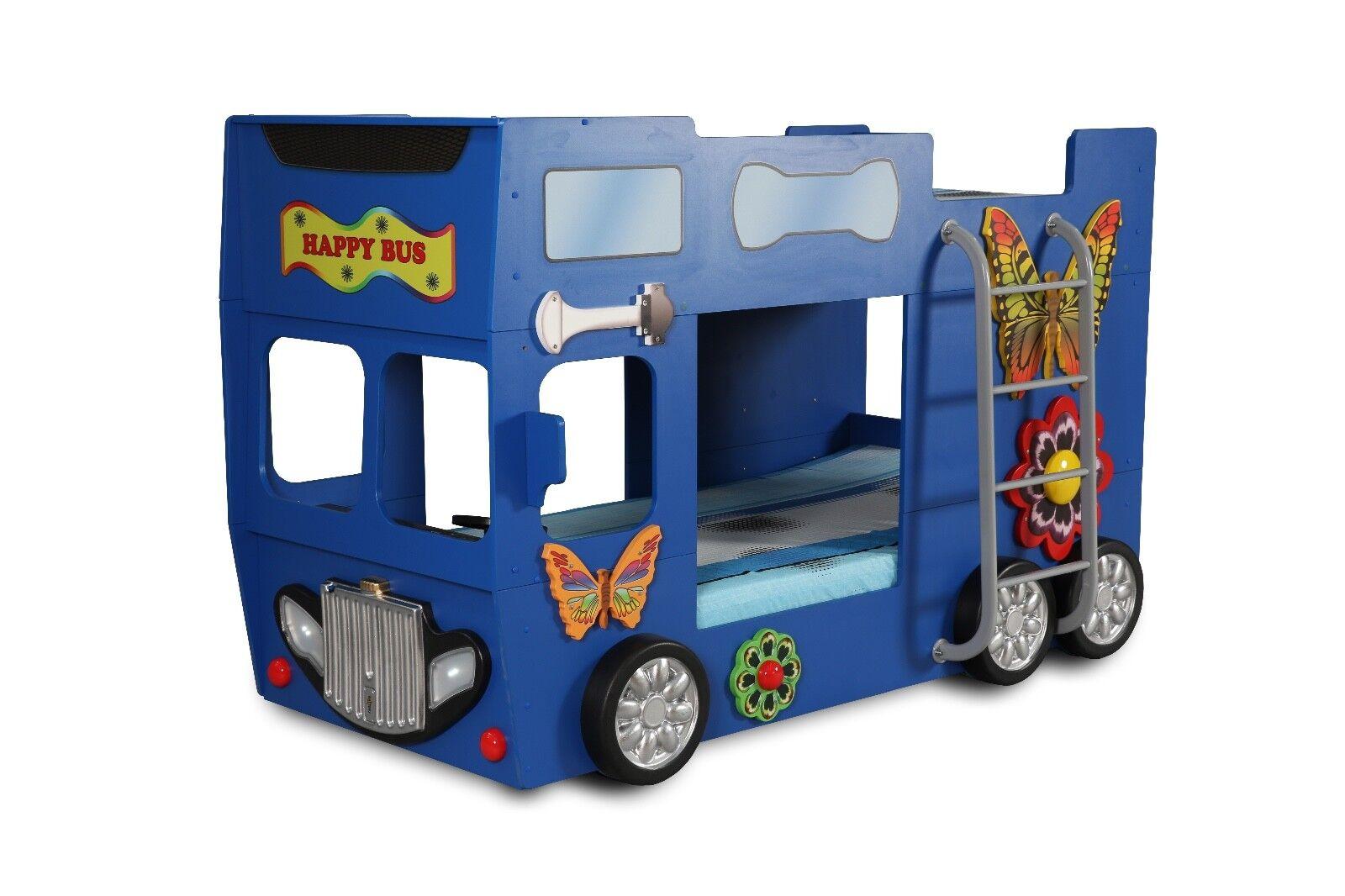 Bus Bett Etagenbett : Kinderzimmer bett kinderbett etagenbett happy bus 90x190