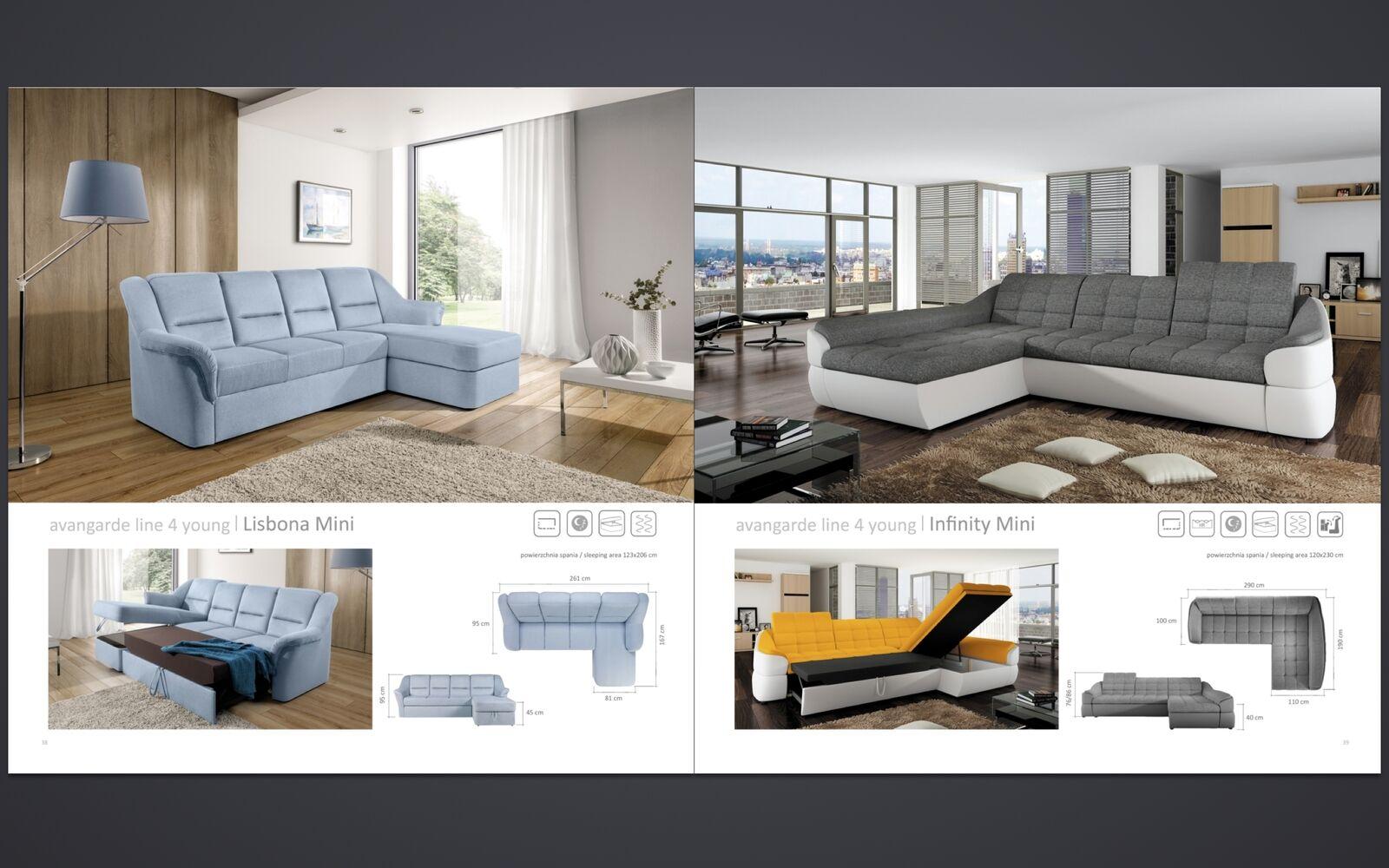 couchgarnitur infinity mini sofa mit schlaffunktion couch. Black Bedroom Furniture Sets. Home Design Ideas