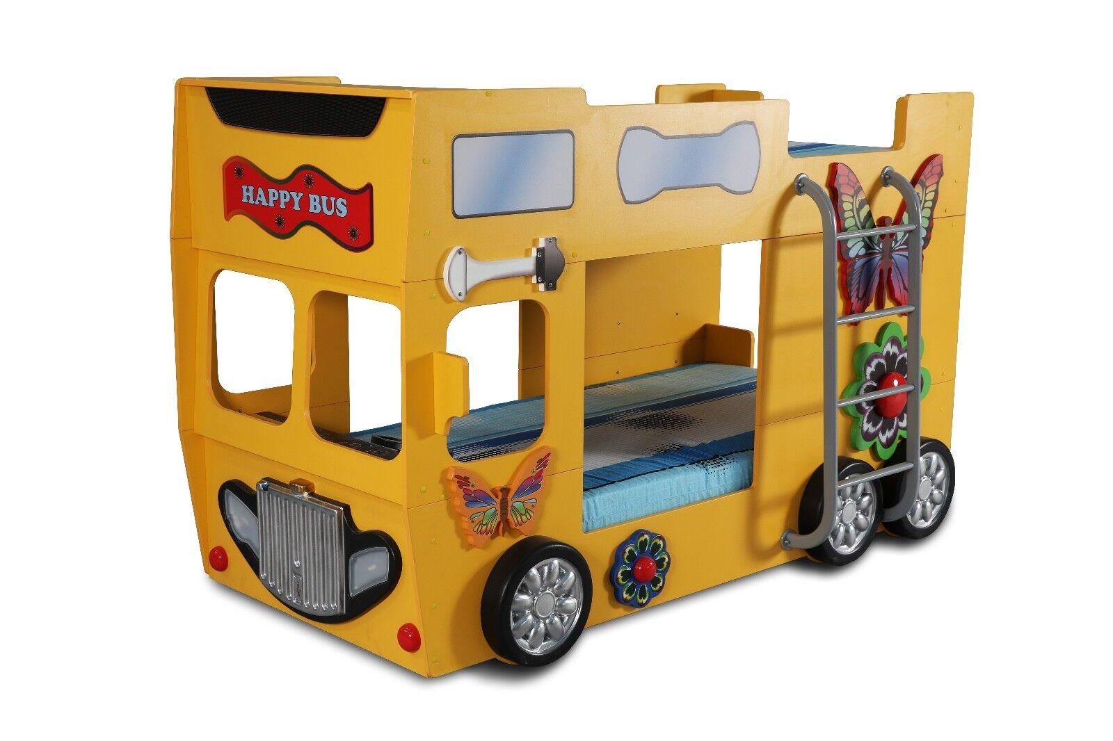 Etagenbett Auto : Kinderzimmer bett kinderbett etagenbett happy bus
