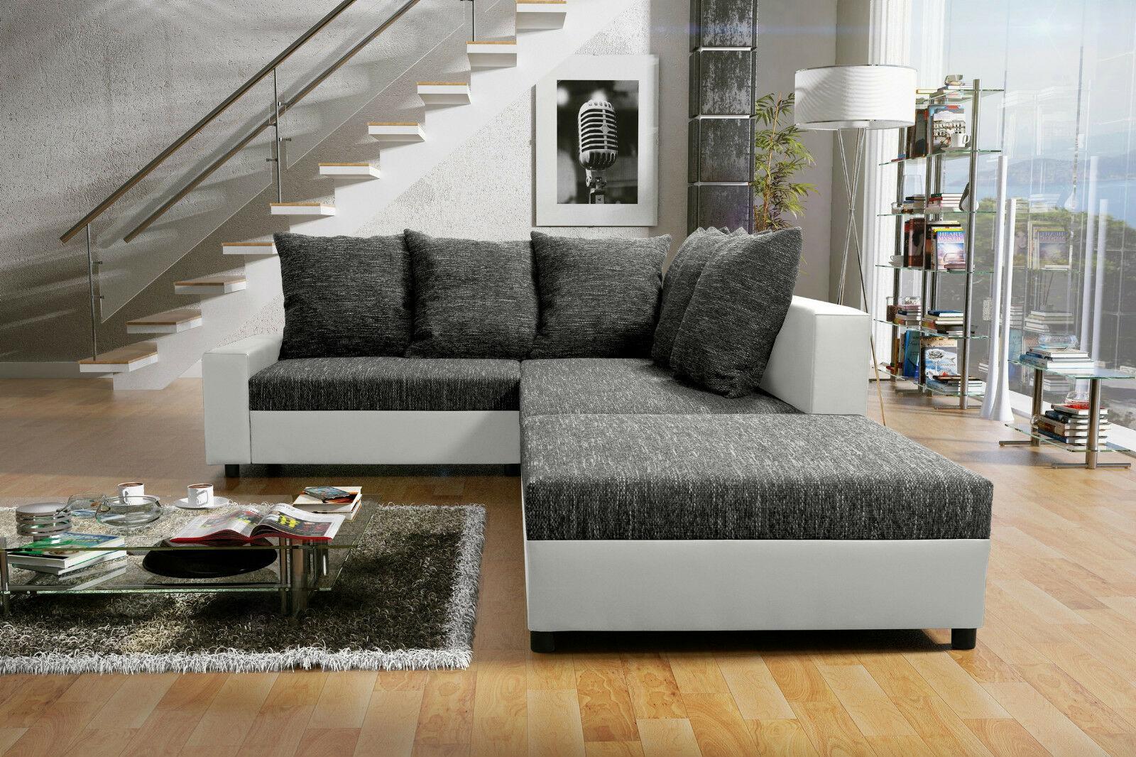 Couch Couchgarnitur Sofa Polsterecke Mit Hocker Wohnlandschaft Sonja