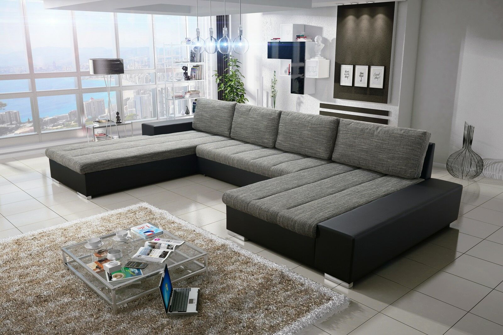 Sofa Couchgarnitur Couch Sofagarnitur Verona 6 U Polsterecke Mit Schlaffunktion
