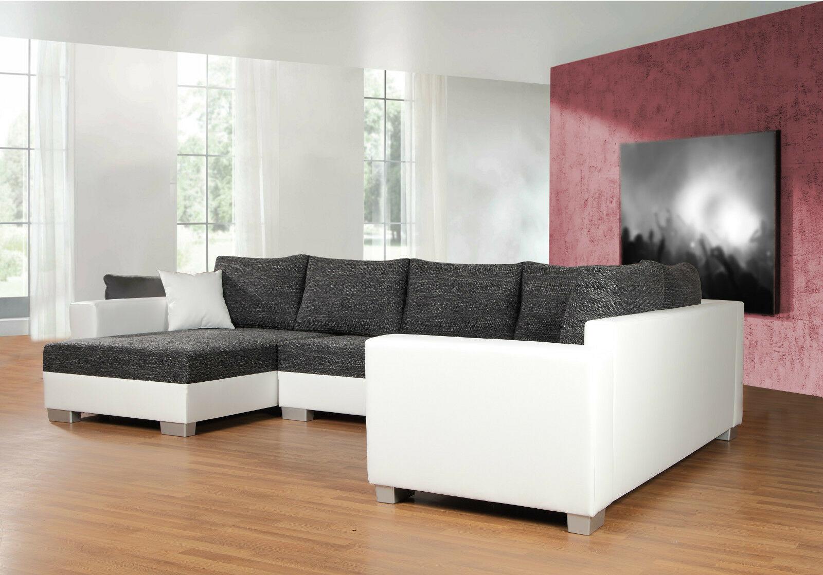 Couchgarnitur Sofa Garnitur Schlafsofa PUEBLA mit Schlaffunktion U ...