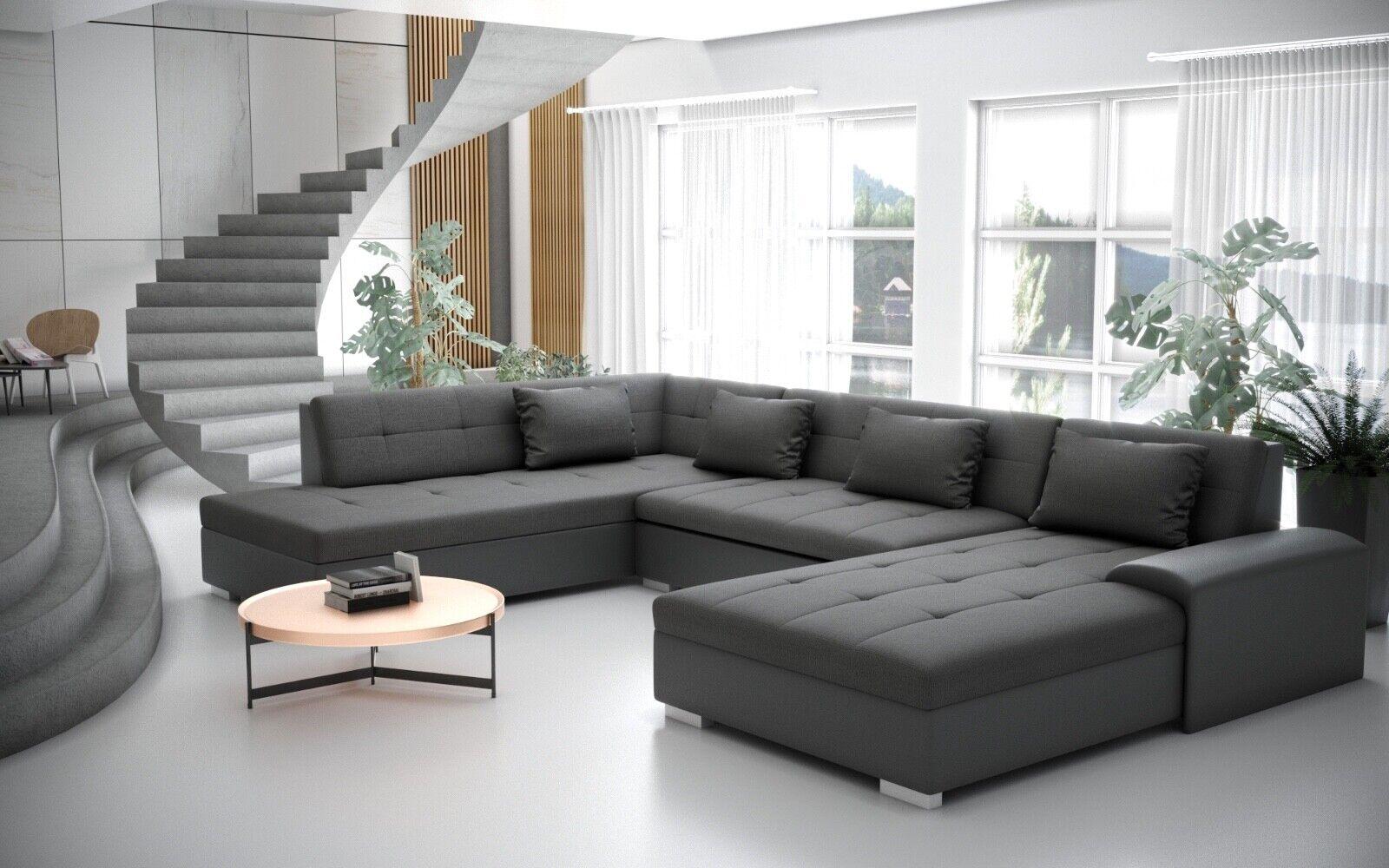 Liberto U Form Schlaffunktion Couchgarnitur Couch Polster Sofa
