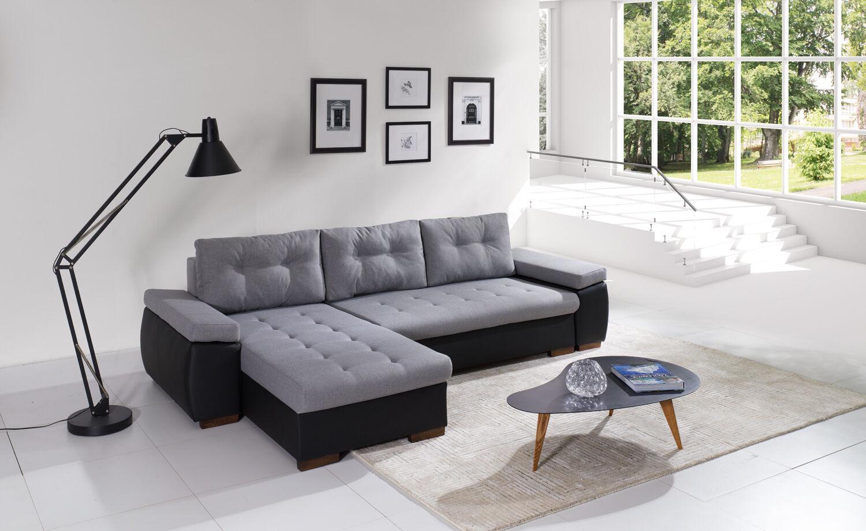 Couch Couchgarnitur Polsterecke Ravenna 1 L Wohnlandschaft Sofa