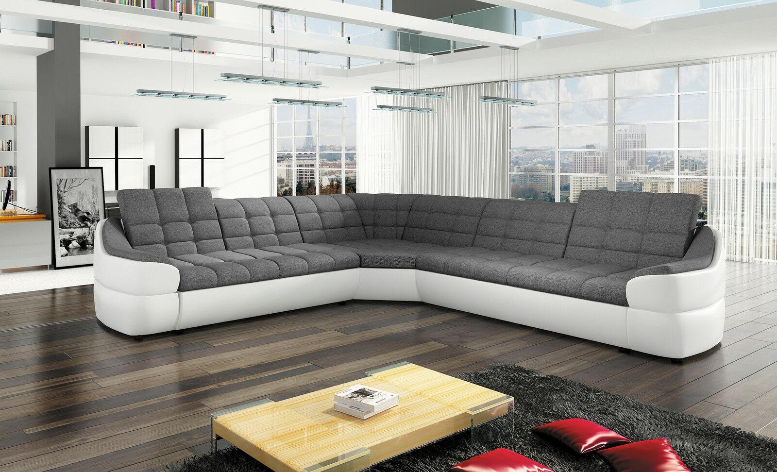 Couchgarnitur Infinity L Sofa Wohnlandschaft Couch Polsterecke
