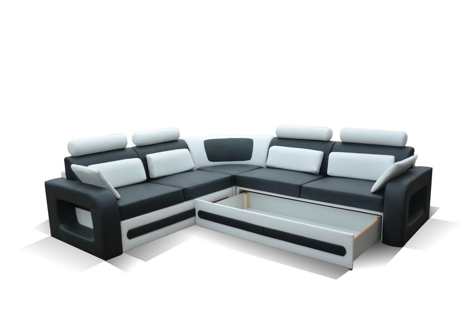 Wohnlandschaft mit schlaffunktion  Couch Couchgarnitur Sofa Polsterecke BE 02 L Wohnlandschaft ...
