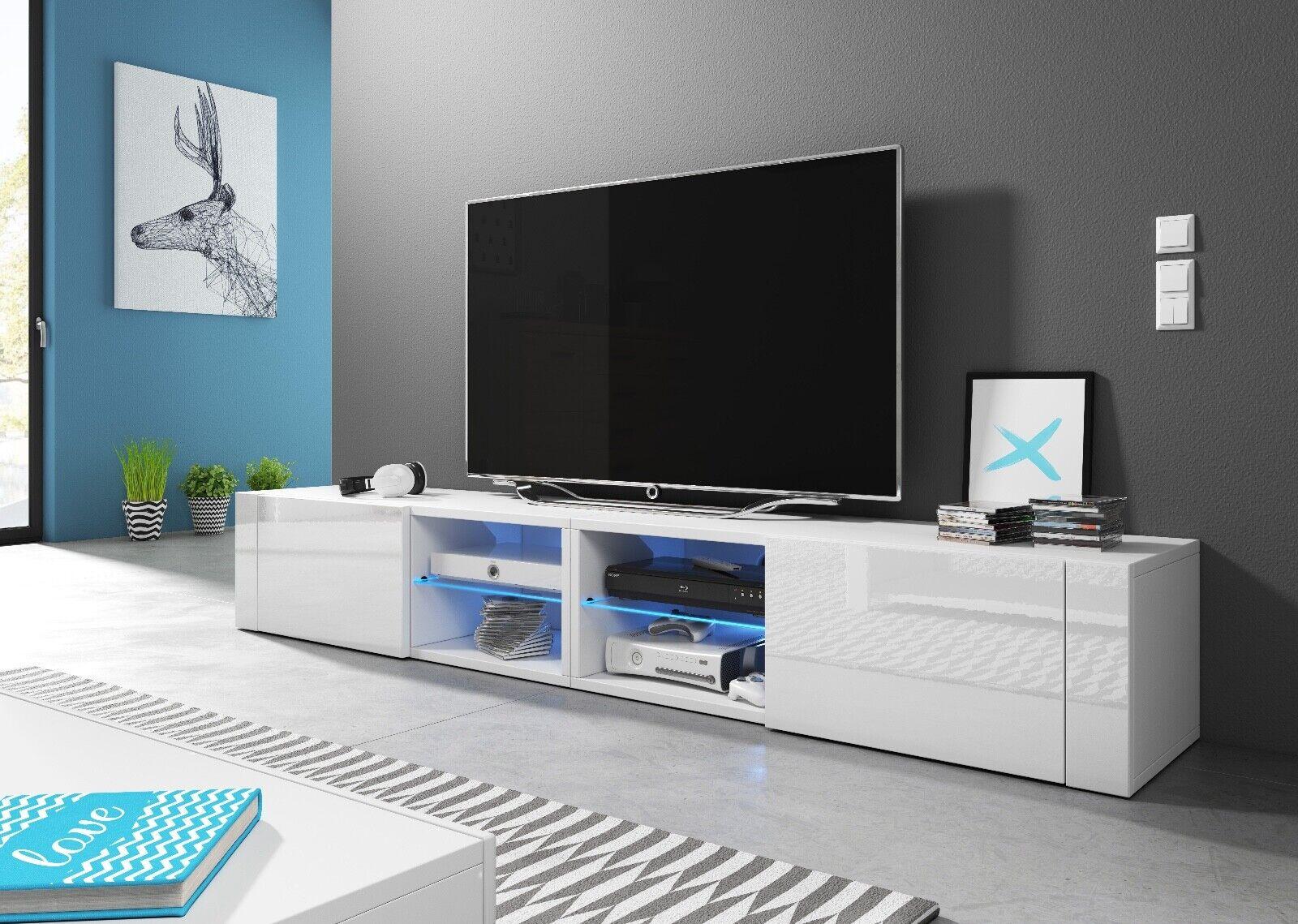 Hit2 Double 200 Cm Sideboard Lowboard Tv Fernsehschrank Inkl Led Highboard Yatego Com