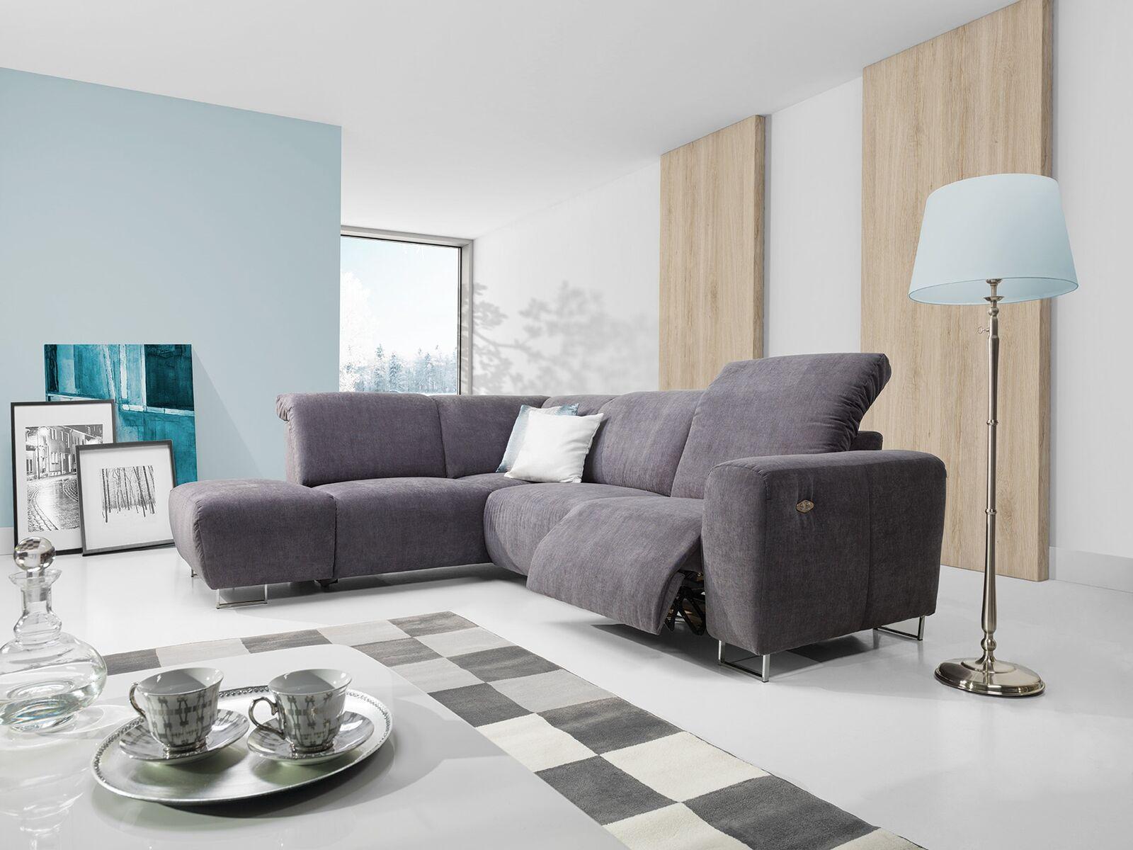 Sofa Couchgarnitur Couch Lotta Polsterecke Wohnlandschaft Bewegl