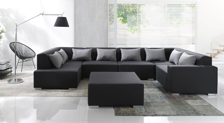 Couch Cubic 6 Teile Couchgarnitur Wohnlandschaft Big Sofa Modulsofa