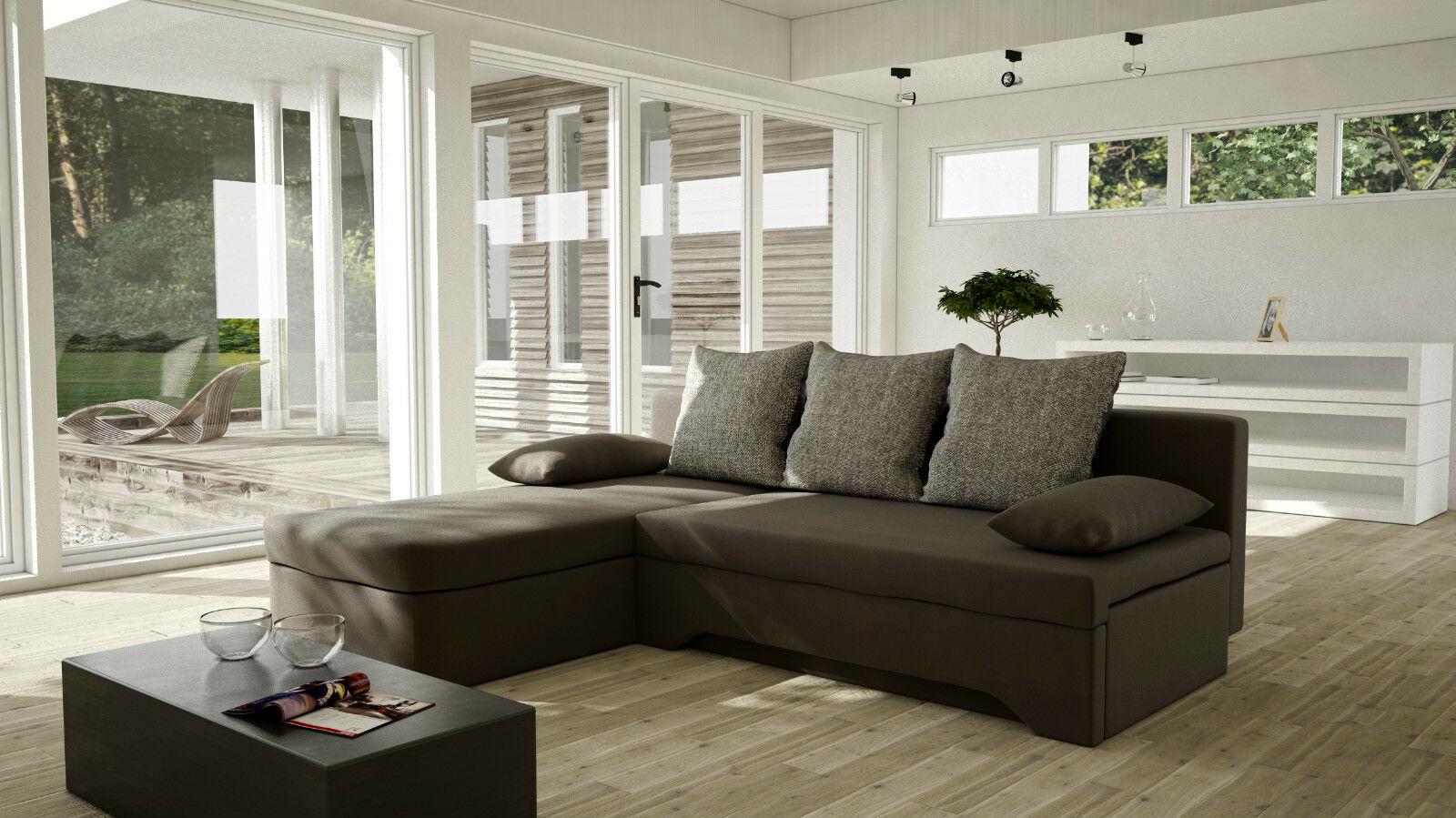 Couchgarnitur Sofa Sofagarnitur Mary Mit Schlaffunktion L Form