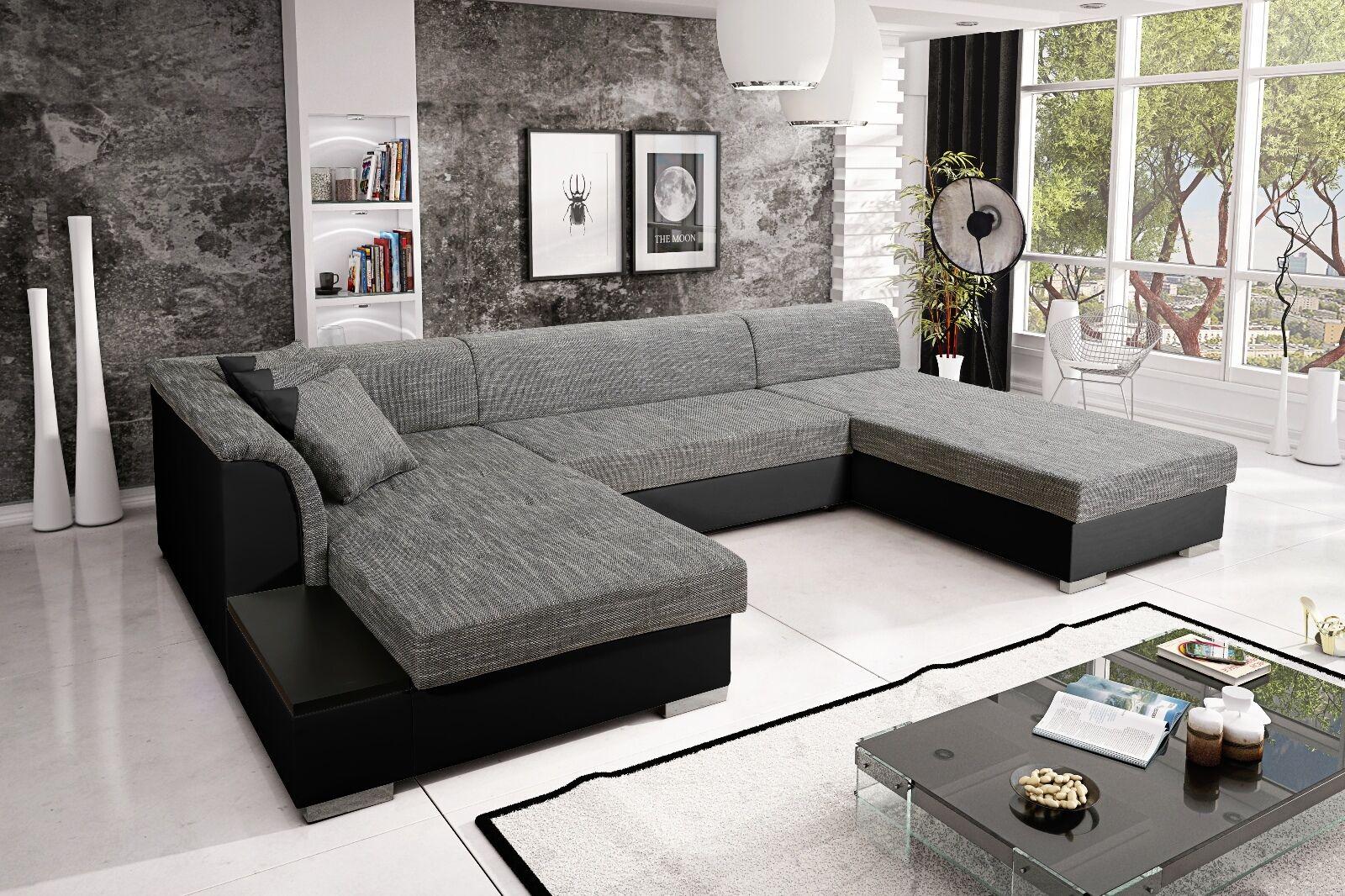 Sofa Couchgarnitur Couch Kreta 6 Polsterecke Wohnlandschaft Mit
