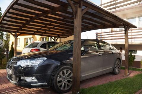 CARPORT Leimbinder Leimholz 5, 4 Meter x 3, 30 Meter Doppelstegplatten