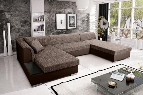 Sofa Couchgarnitur Couch KRETA 8 U Polsterecke Wohnlandschaft mit Schlaffunktion