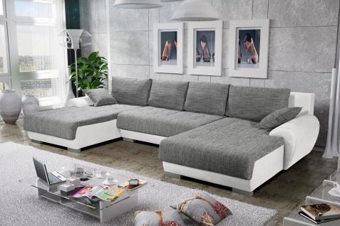 Sofa Couchgarnitur Couch Sofagarnitur LEON 4 U Polsterecke mit Schlaffunktion