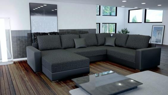 Sofa Couchgarnitur Couch Sofagarnitur STY 3 U Wohnlandschaft Schlaffunktion