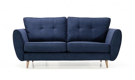 AMELIA 2 er Sofa mit Hocker Couchgarnitur Couch Polster Sofa Wohnlandschaft NEU - Vorschau 5