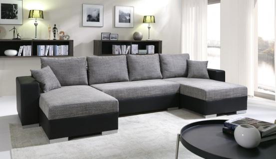 Sofa Couchgarnitur Couch Sofagarnitur U 4112200/6 Wohnlandschaft Schlaffunktion
