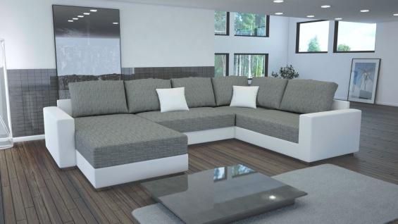 Couch Garnitur Ecksofa Sofagarnitur Sofa STY 4 U Wohnlandschaft Schlaffunktion