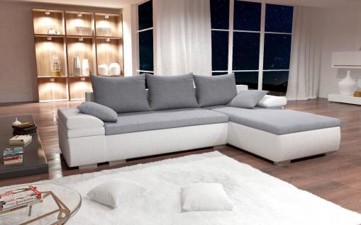 Couch Garnitur Ecksofa Eckcouch Sofa HERCULES Schlaffunktion Wohnlandschaft