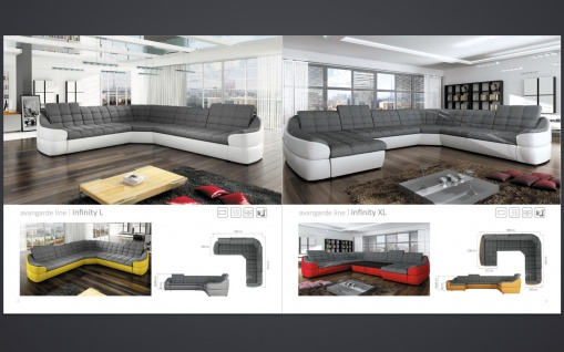 couchgarnitur infinity xl u sofa mit schlaffunktion couch polsterecke ecksofa kaufen bei. Black Bedroom Furniture Sets. Home Design Ideas