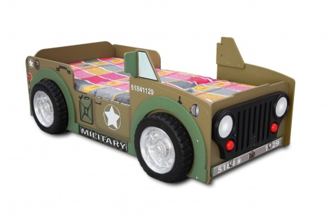 Kinderzimmer Bett Kinderbett Jepp military single Matratze Lattenrost 90x190 NEU