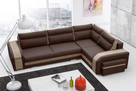 Couch Sofa Couchgarnitur ASSAN L Polesterecke mit Schlaffunktion Wohnlandschaft