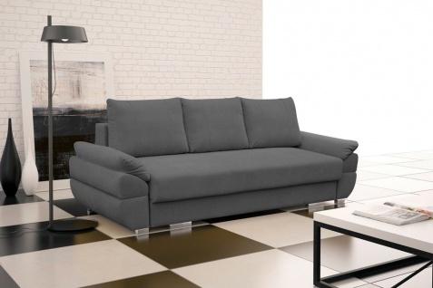 Couch Sofa Couchgarnitur Benita Polesterecke mit Schlaffunktion Wohnlandschaft