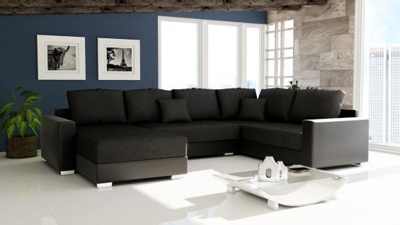 Couch Garnitur Ecksofa Sofagarnitur Sofa STY. 300 Wohnlandschaft Schlaffunktion