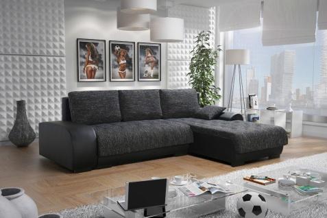 Sofa LEON 3 L Couchgarnitur Couch Sofagarnitur Wohnlandschaft Schlaffunktion