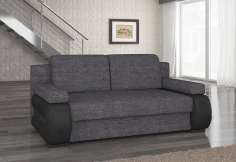 Couch Couchgarnitur Sofa Polstergarnitur LA 06 mit Schlaffunktion Jugendsofa