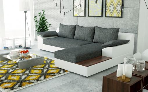 Couch Garnitur Ecksofa Eckcouch Sofa NEMO Schlaffunktion Wohnlandschaft