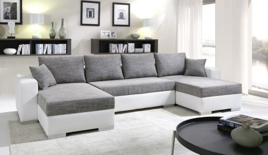 Sofa Couchgarnitur Couch Sofagarnitur 4112200/4 U Wohnlandschaft Schlaffunktion