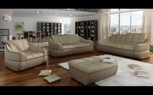 Couchgarnitur INFINITY 3 er + 2 er + 1 er + Hocker, Sofa Couch Polsterecke SET