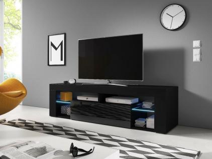 Sideboard Lowboard TV Fernsehschrank EVEREST 160cm Kommode ink LED Highboard NEU - Vorschau 2